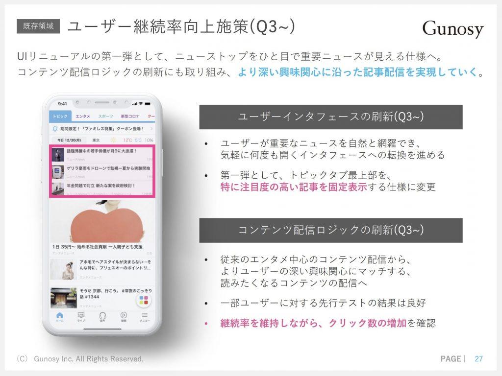 グノシー:ユーザー継続率向上施策(Q3~)