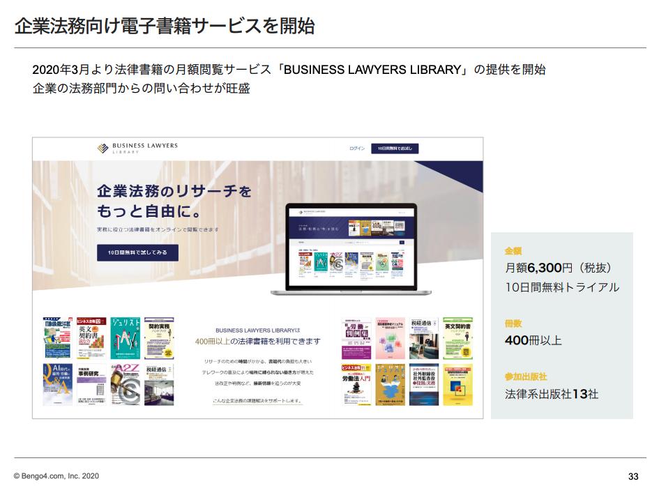 ビジネスロイヤーズ事業企業法務向け電子書籍サービスを開始
