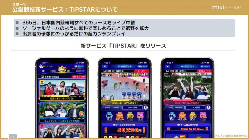 公営競技新サービス:TIPSTAR