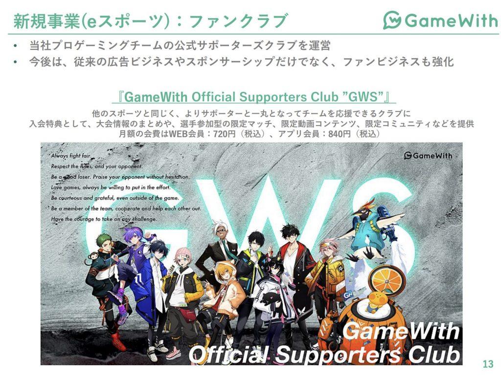 gamewith:ファンクラブ事業