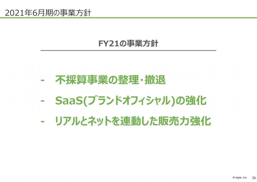 アイスタイル:FY21事業方針