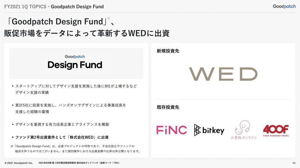 グッドパッチ:・Goodpatch Design Fund