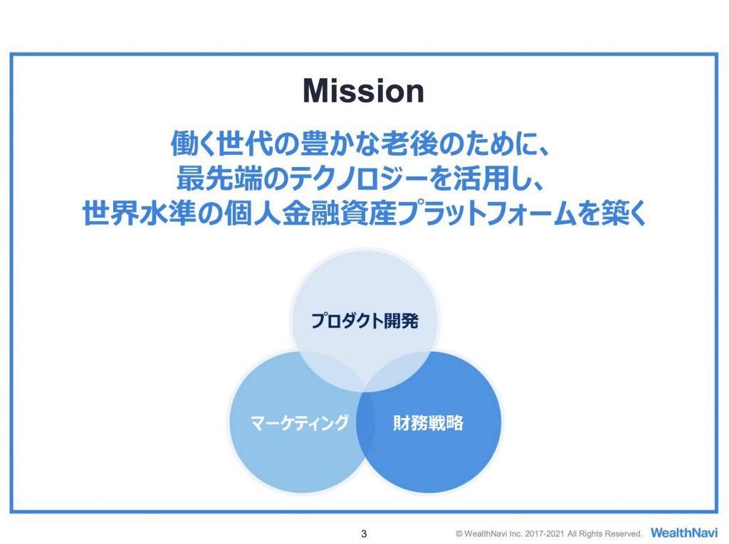 WealthNavi:ミッション